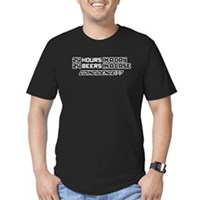 24 Hours, 24 Beers Men's Fitted T-Shirt (dark)