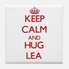 Keep Calm and Hug Lea Tile Coaster