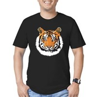 Tiger Face Men's Fitted T-Shirt (dark)