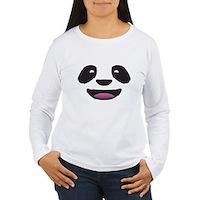 Panda Face Women's Long Sleeve T-Shirt