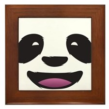 Panda Face Framed Tile