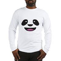 Panda Face Long Sleeve T-Shirt