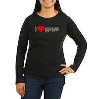 I Heart Guys Women's Long Sleeve Dark T-Shirt