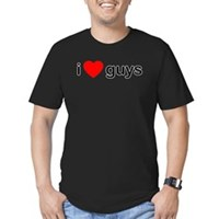 I Heart Guys Men's Fitted T-Shirt (dark)