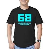 Let's 68! Men's Fitted T-Shirt (dark)