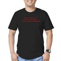 Check Out My Ass Men's Fitted T-Shirt (dark)