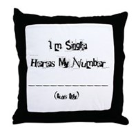 Here's my number (Girls) Throw Pillow