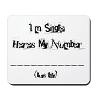 Here's my number (Girls) Mousepad