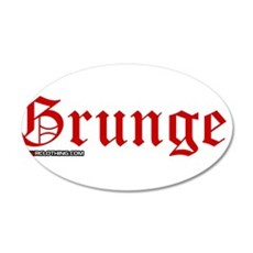 Grunge 20x12 Oval Wall Decal