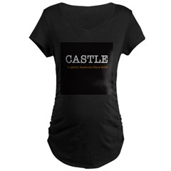 Castle Ruggedly Handsome Black Maternity T-Shirt
