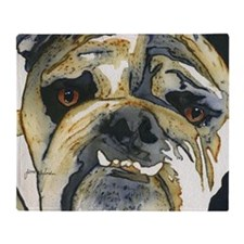 Bulldog Maverick by Jane Alexander Throw Blanket