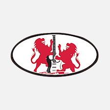 Rock Lion Guitar Crest Patches