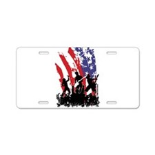 America Rocks Aluminum License Plate