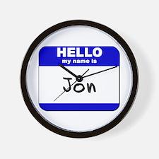 hello my name is jon  Wall Clock