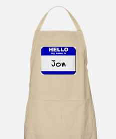 hello my name is jon  BBQ Apron