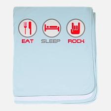 Eat Sleep Rock baby blanket