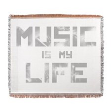 Music Is My Life Woven Blanket