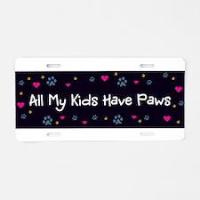 Cute Pet lovers Aluminum License Plate