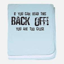 Back off! baby blanket