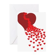 Thousands Of Hearts Greeting Card