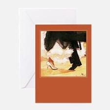 Foot Works Black/Yellow1 Greeting Card