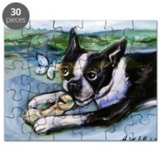 Boston Terrier butterfly Puzzle