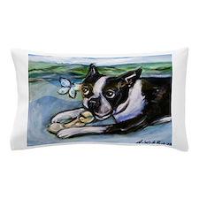 Boston Terrier butterfly Pillow Case