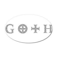 Goth 20x12 Oval Wall Decal