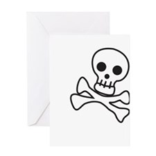 Cute Skull Greeting Card