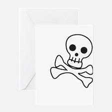 Cute Skull Greeting Card