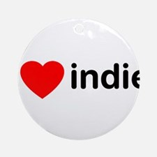 I Heart Indie Ornament (Round)