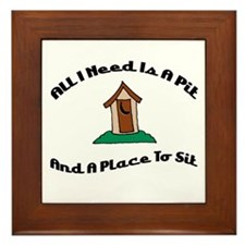 A Place To Sit Framed Tile