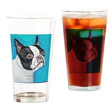 Boston Terrier Drinking Glass