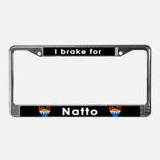 Natto License Plate Frame