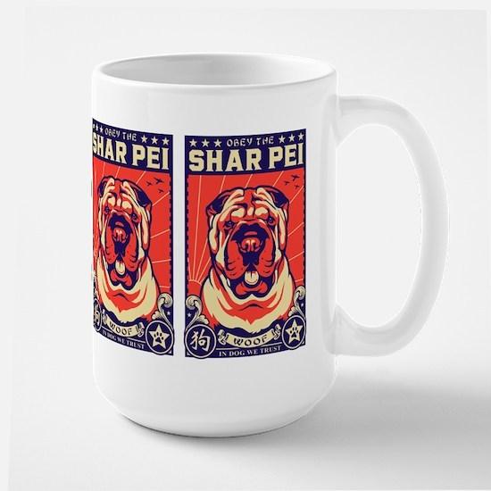 Obey the Shar Pei! Propaganda Mugs