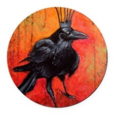 Darlington, The Raven King Round Car Magnet