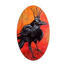 Darlington, The Raven King Oval Car Magnet