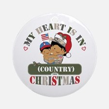 Christmas Soldier Mom Ornament (Round)