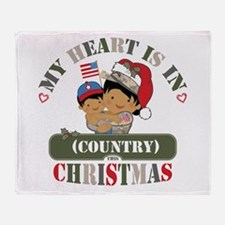 Christmas Soldier Mom Throw Blanket