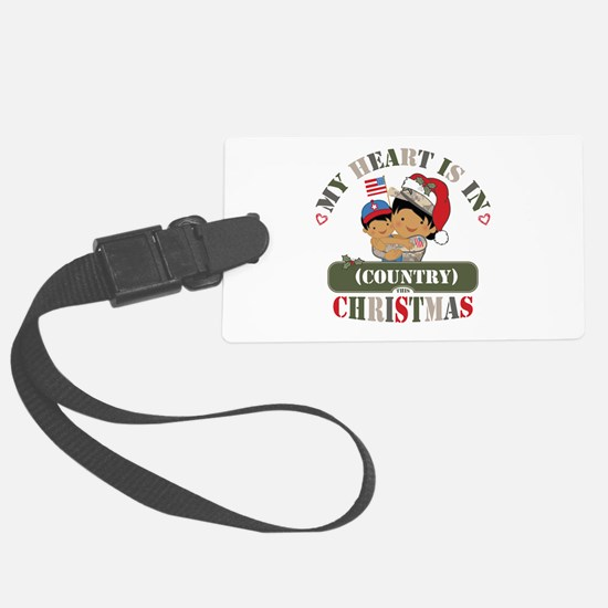 Christmas Soldier Mom Luggage Tag