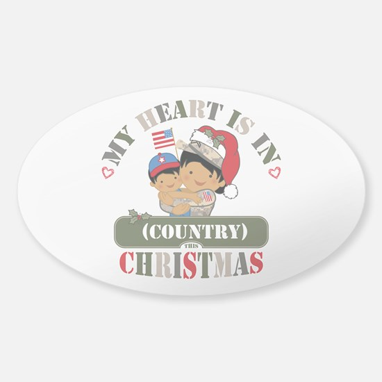 Christmas Soldier Mom Sticker (Oval)