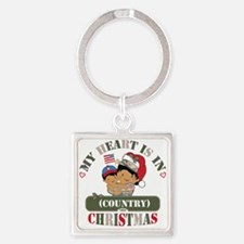 Christmas Soldier Mom Square Keychain