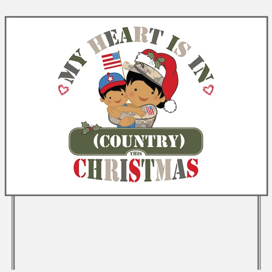 Christmas Soldier Mom Yard Sign