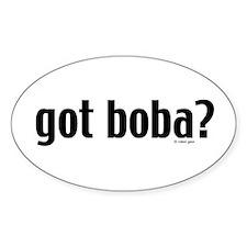 """got boba?"" Oval Stickers"