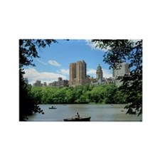 NYC view from Central Park Rectangle Magnet