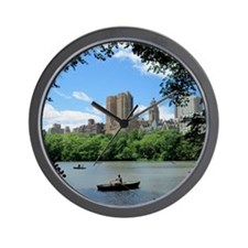 NYC view from Central Park Wall Clock