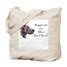 Happiness is a blue Dane Tote Bag