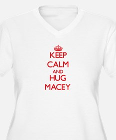 Keep Calm and Hug Macey Plus Size T-Shirt