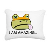 Amazing frog Rectangle Canvas Pillows