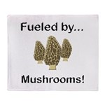 Fueled by Mushrooms Throw Blanket
